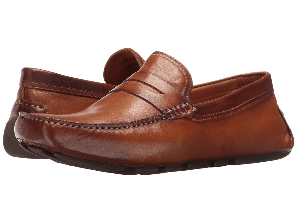 Massimo Matteo - Burnished Penny Driver (Tan) Men's Slip-on Dress Shoes