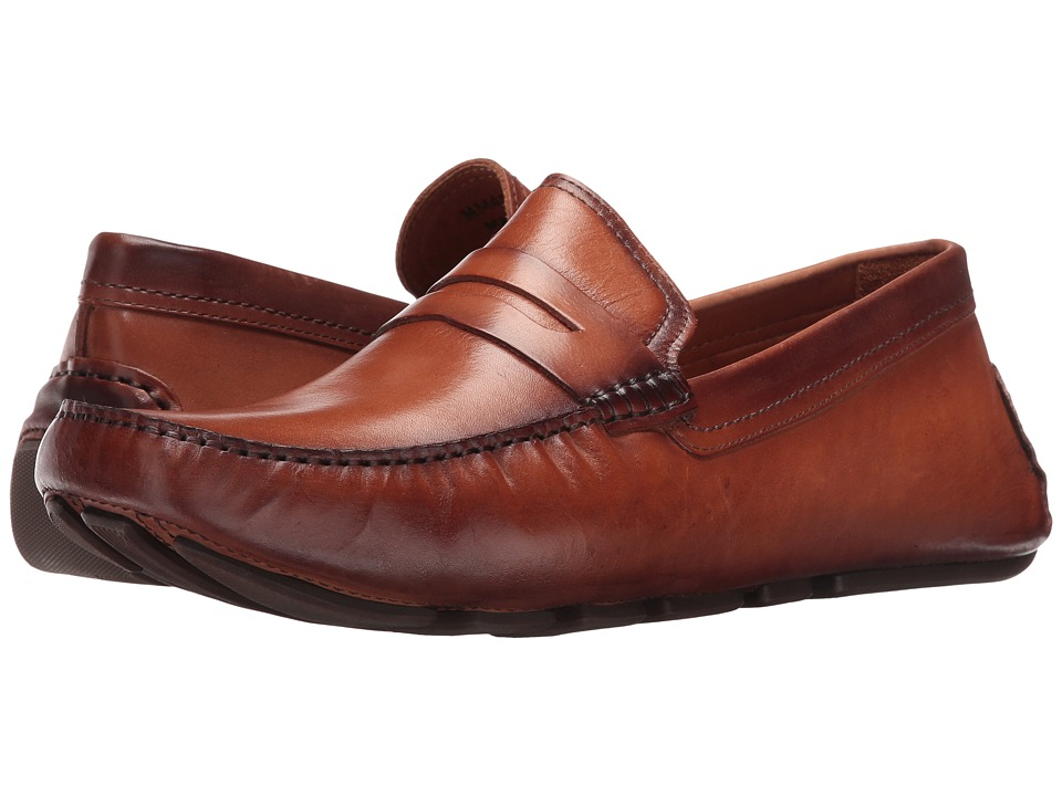 Massimo Matteo - Burnished Penny Driver (Havana) Men's Slip-on Dress Shoes