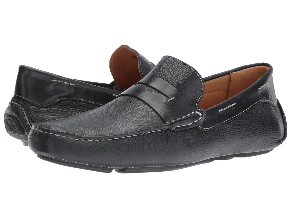 Massimo Matteo - Florencia Penny Driver (Black) Men's Slip on Shoes