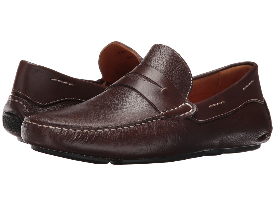 Massimo Matteo - Florencia Penny Driver (Brown) Men's Slip on Shoes