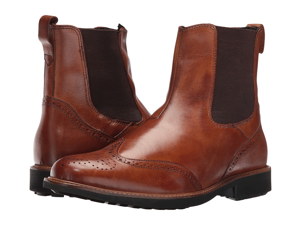Massimo Matteo - Chelsea Wing Boot (Tan) Men's Pull-on Boots