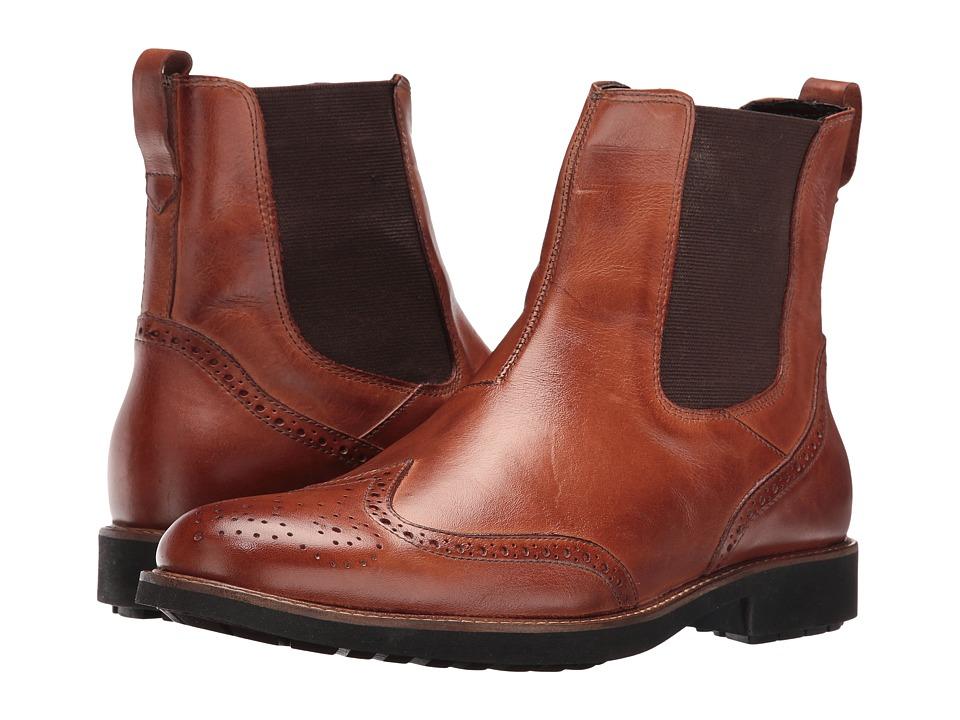 Massimo Matteo - Chelsea Wing Boot (Havana) Men's Pull-on Boots