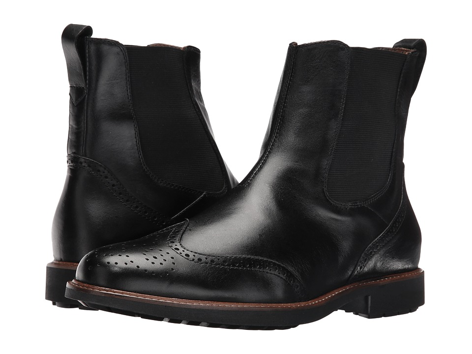 Massimo Matteo - Chelsea Wing Boot (Black) Men's Pull-on Boots