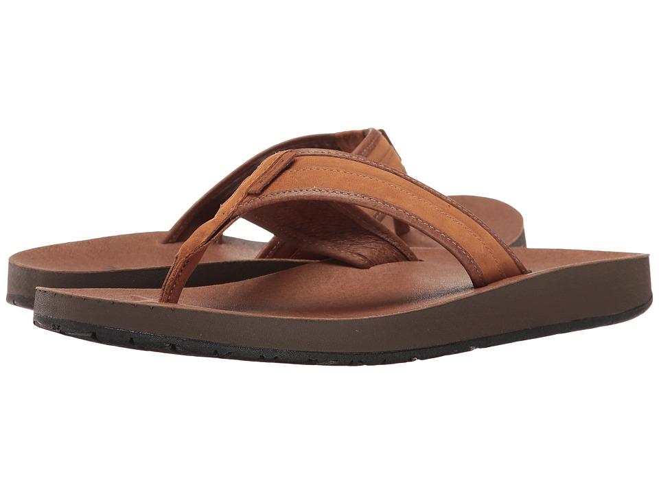 Teva - Azure Flip Leather (Brown) Men's Sandals