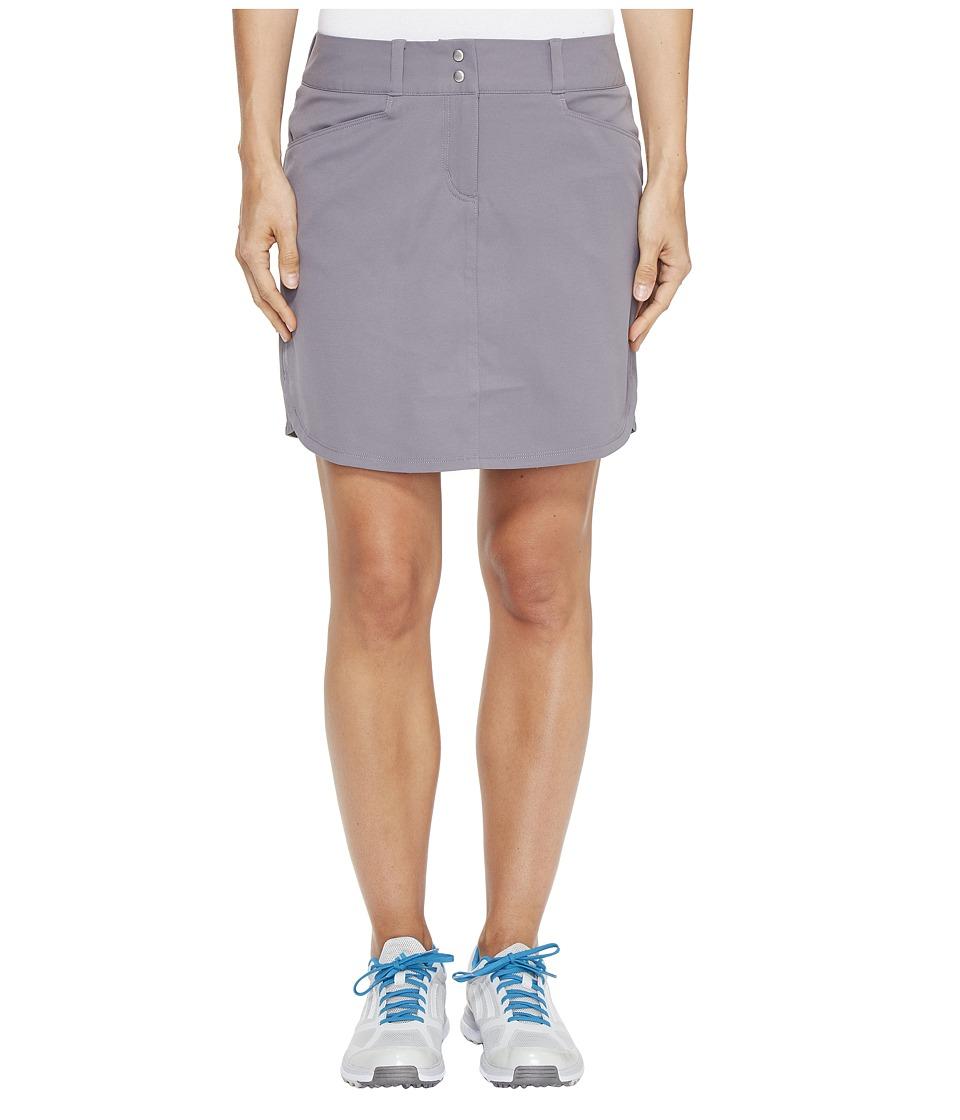 adidas Golf Essentials 3-Stripe Skort (Trace Grey) Women