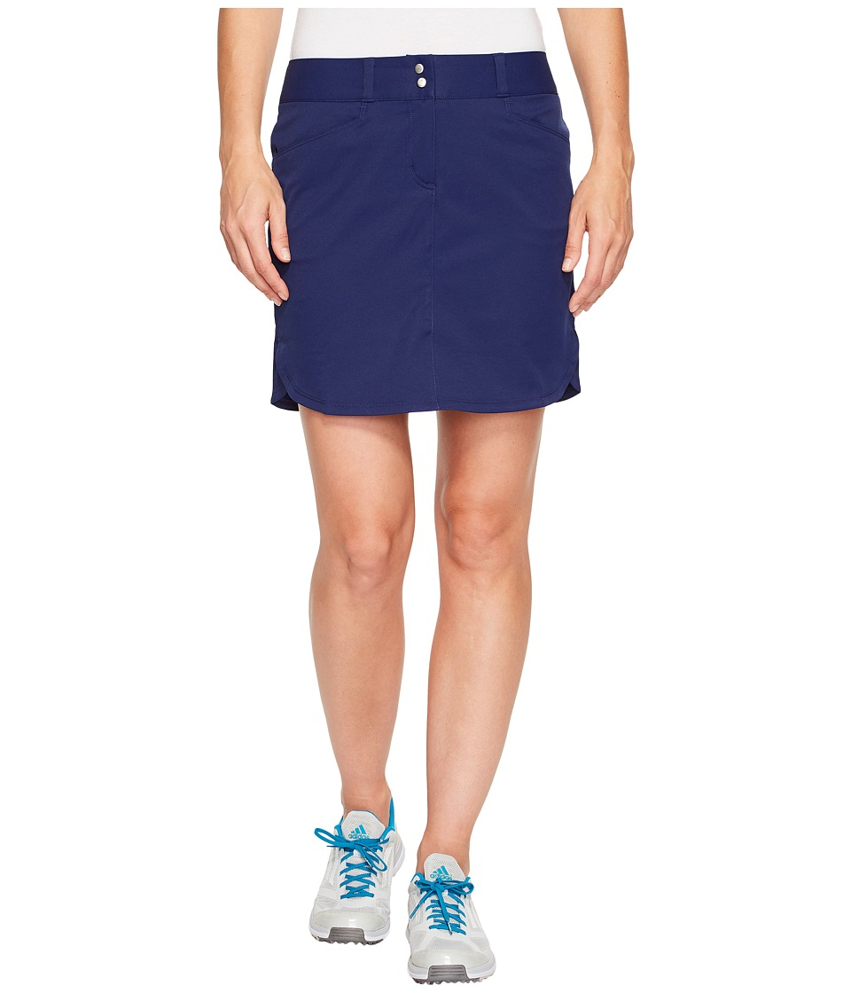 adidas Golf - Essentials 3-Stripe Skort (Night Sky) Women's Skort