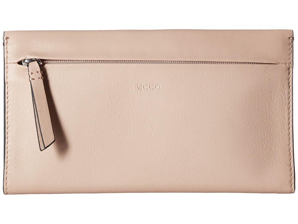 ECCO - Sculptured Large Wallet (Rose Dust) Wallet Handbags