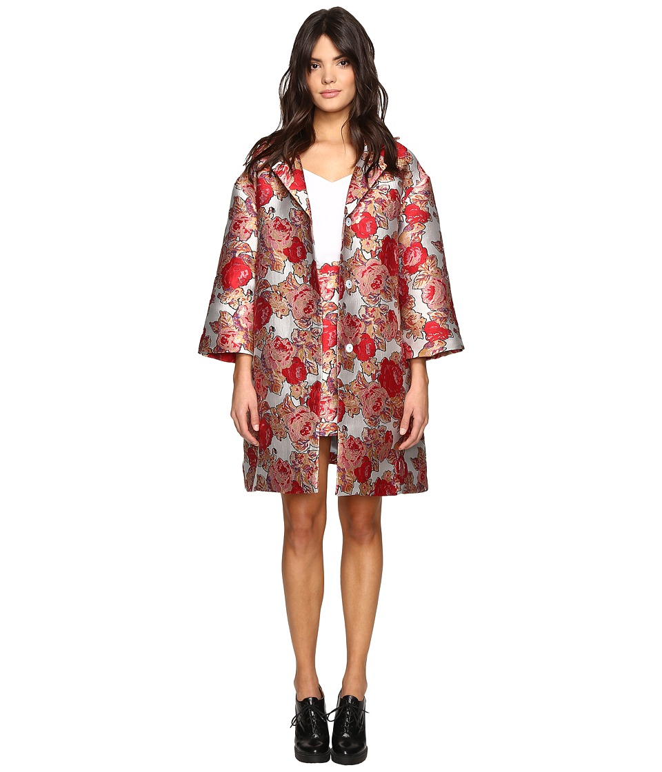 Rachel Antonoff - LD Coat with Collar (Jacquard Rose Garden) Women's Coat