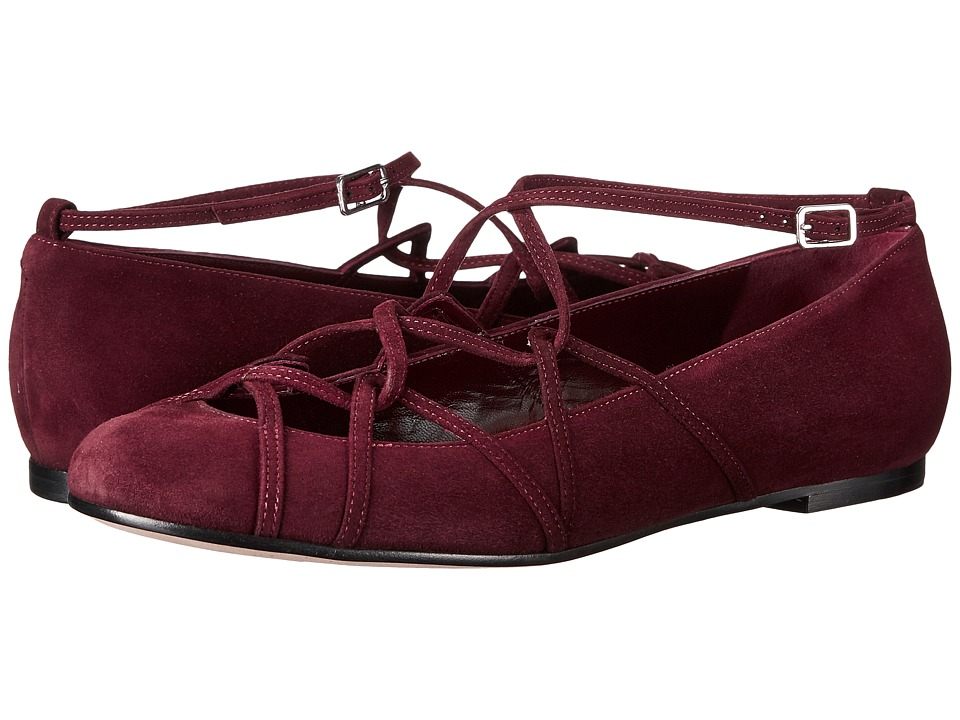 Marc Jacobs Claudia Ghillie Ballerina Flat (Bordeaux) Women
