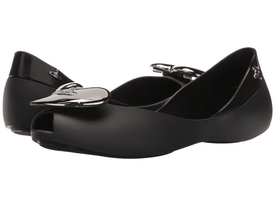 Vivienne Westwood - Anglomania + Melissa Queen (Black 1) Women's Flat Shoes