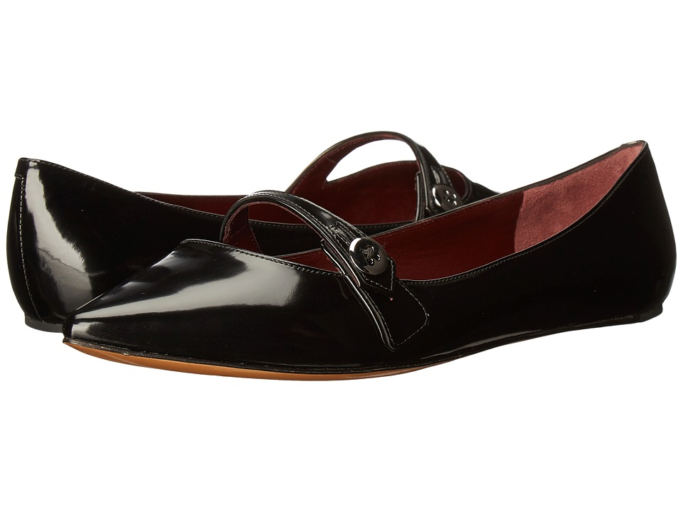 Marc Jacobs Karlie Pointy Button Ballerina (Black) Women