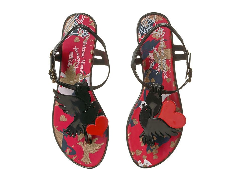Vivienne Westwood - Anglomania + Melissa Solar (Black) Women's Sandals