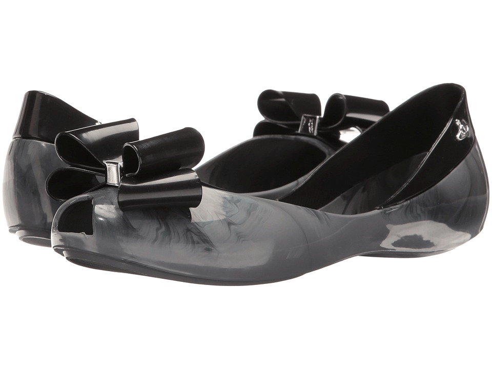 Vivienne Westwood - Anglomania + Melissa Queen (Grey) Women's Flat Shoes