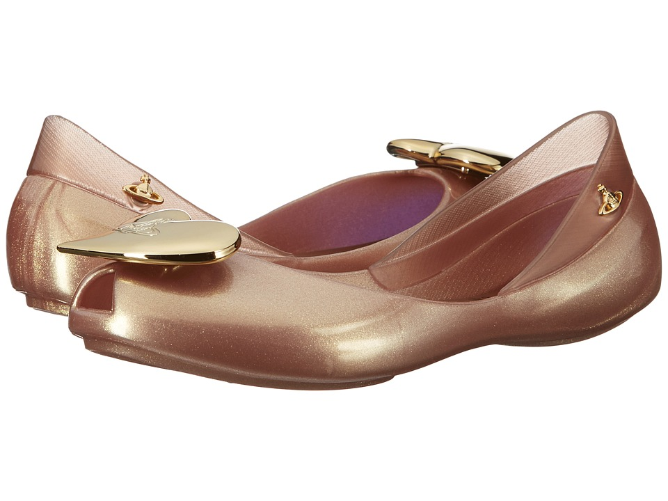 Vivienne Westwood - Anglomania + Melissa Queen (Little Kid/Big Kid) (Rose Gold) Women's Flat Shoes