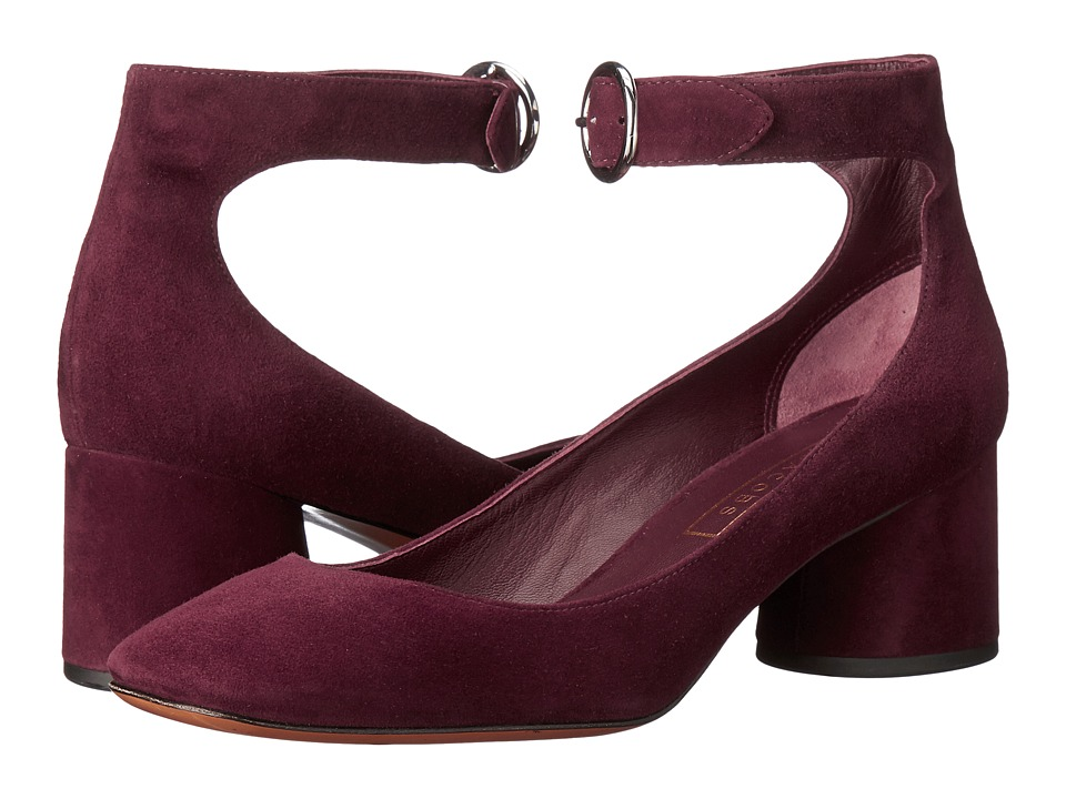 Marc Jacobs Kerry Ankle Strap Pump (Bordeaux) High Heels