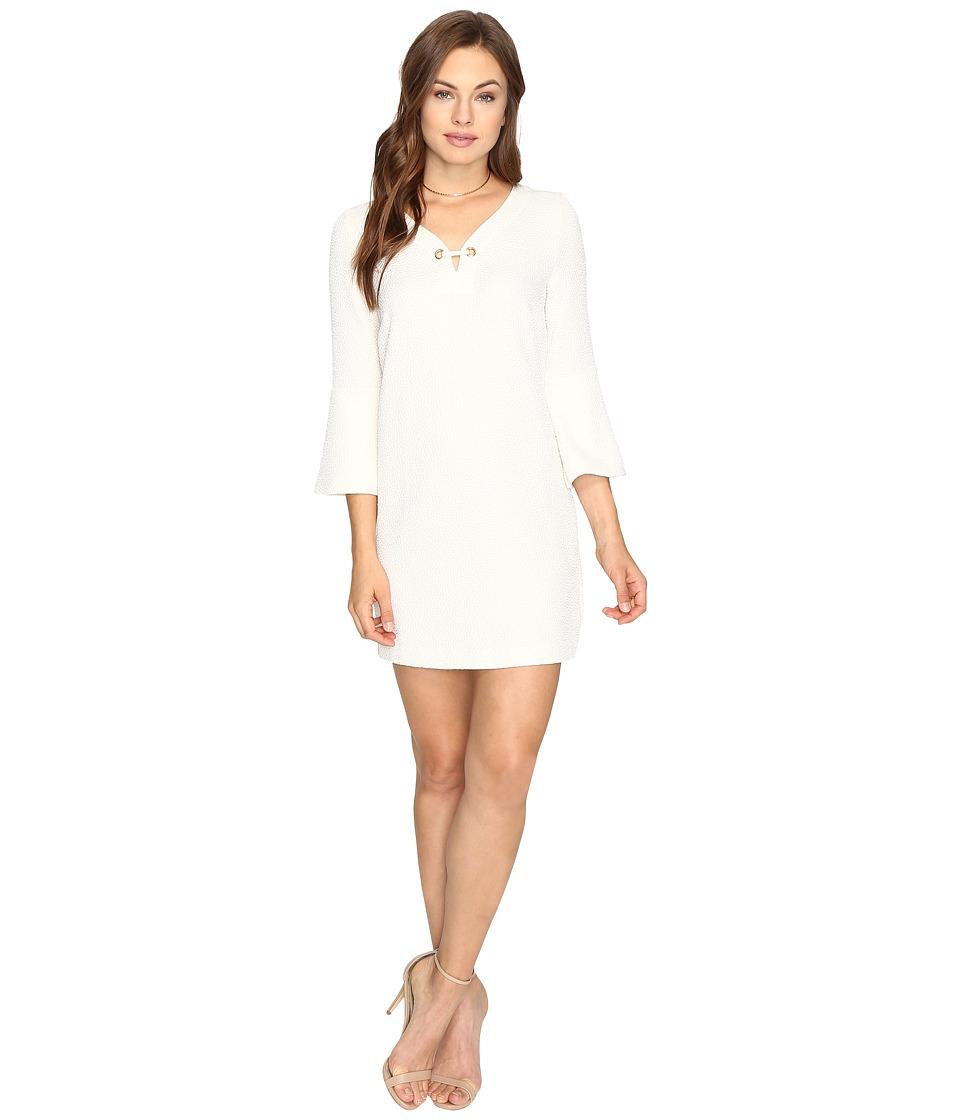 kensie - Textured Dot Dress KSDK7797 (Bone) Women's Dress