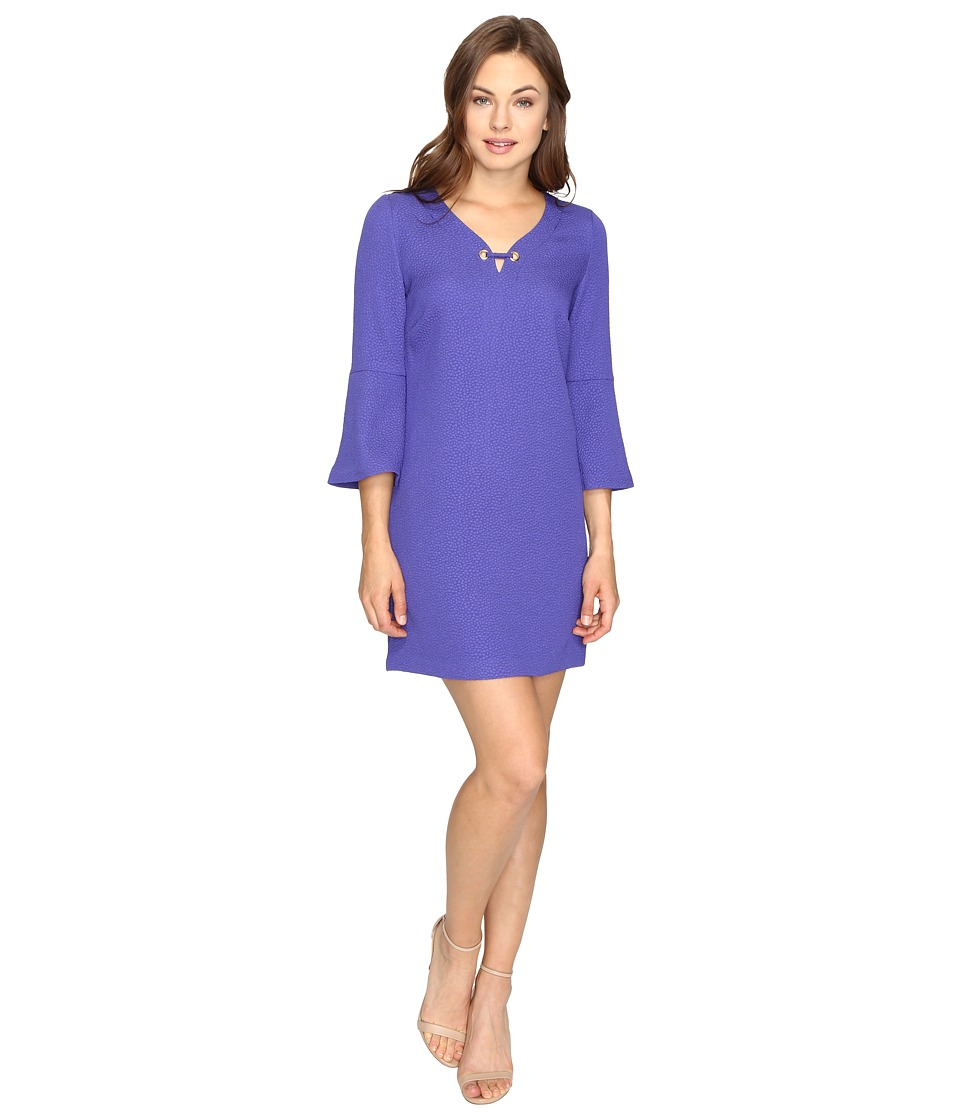 kensie Textured Dot Dress KSDK7797 (Electric Purple) Women