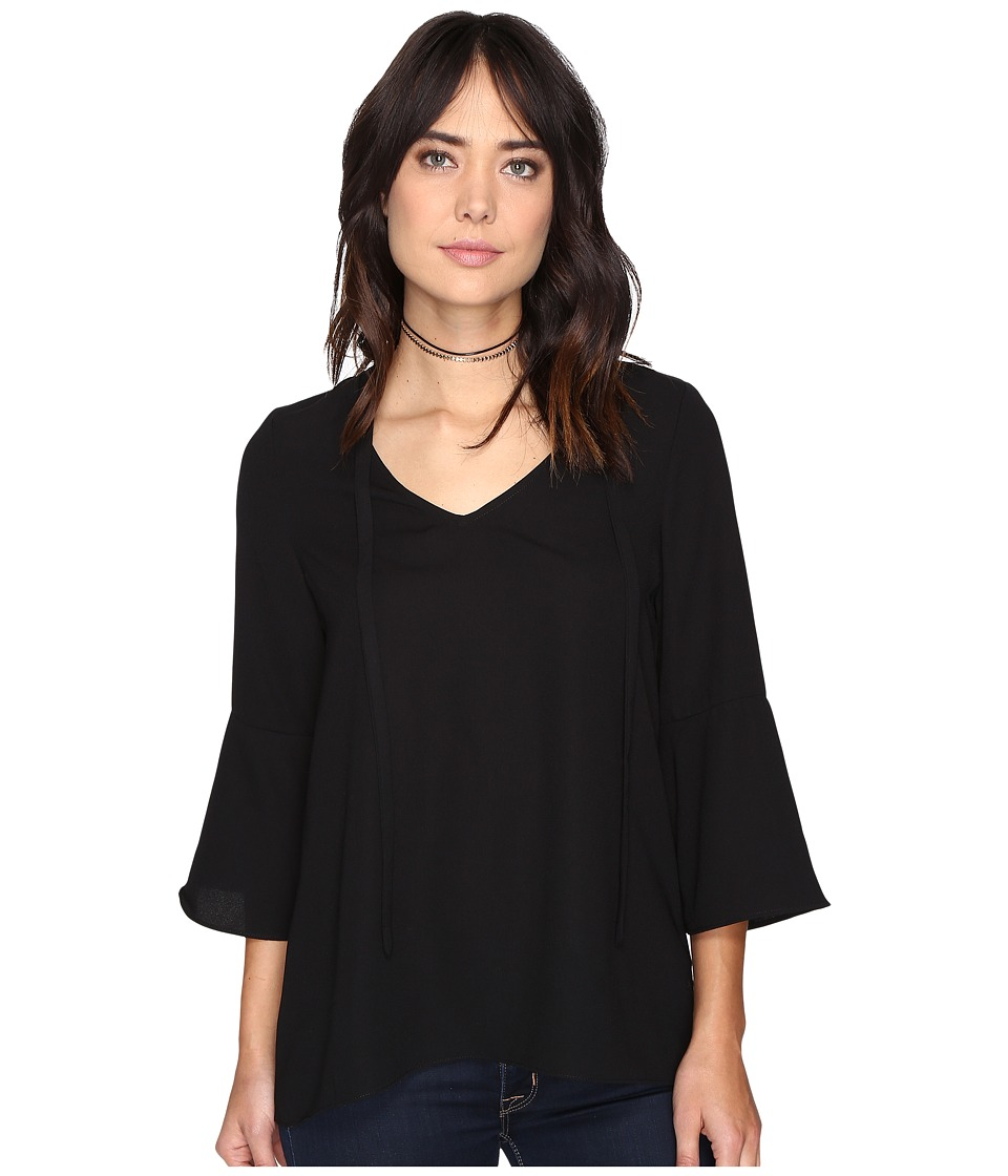 kensie - Luxury Crepe Top KSDK4212 (Black) Women's Clothing