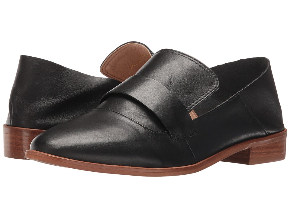 LFL by Lust For Life - Nice (Black Leather) Women's Slip on Shoes