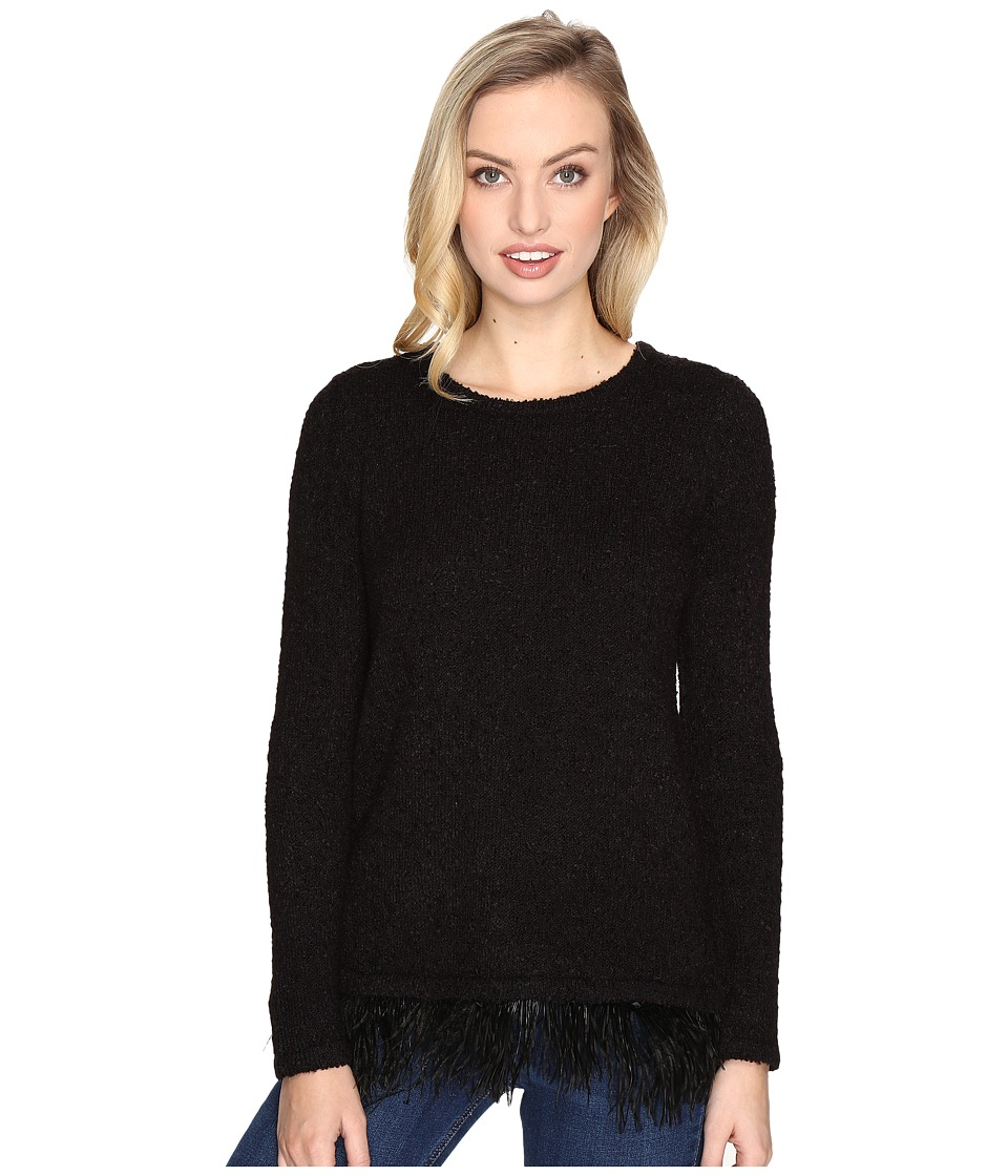 kensie - Textured Boucle Sweater KSDK5535 (Black) Women's Sweater