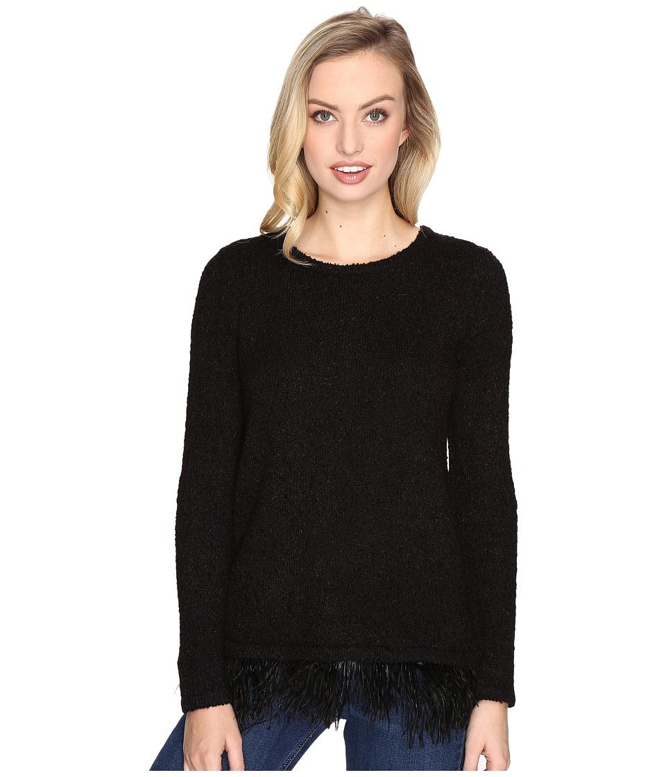 kensie - Textured Boucle Sweater KSDK5535 (Black) Women's Sweater