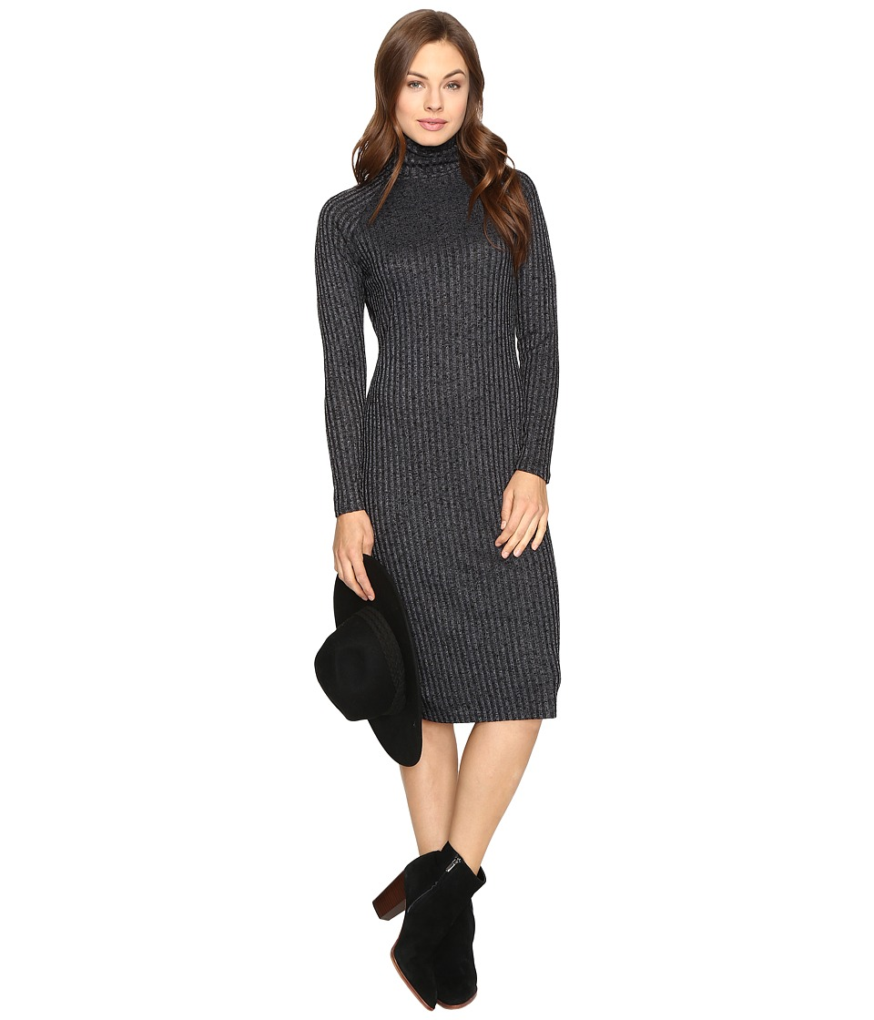 kensie Rayon Rib Midi Dress KSDK7490 (Titanium Combo) Women