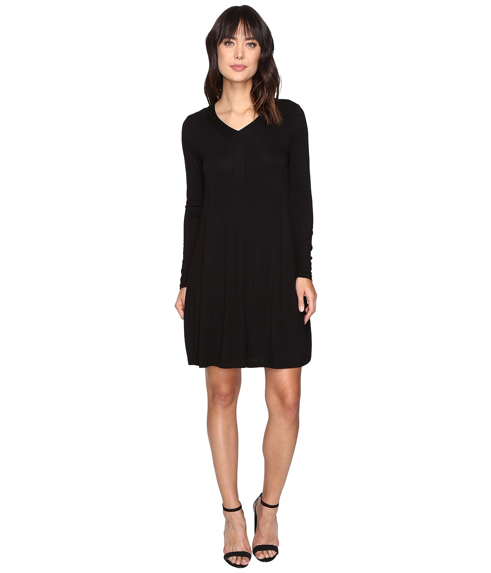 kensie Subtle Slub Tees Dress KSDK7829 (Black) Women