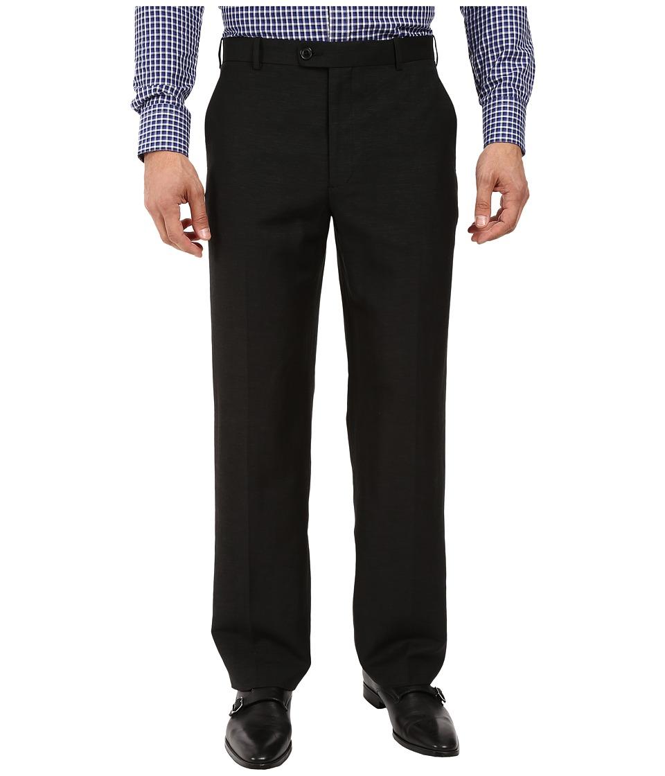 Perry Ellis Portfolio - Classic Fit Linen Portfolio Pant (Black) Men's Dress Pants