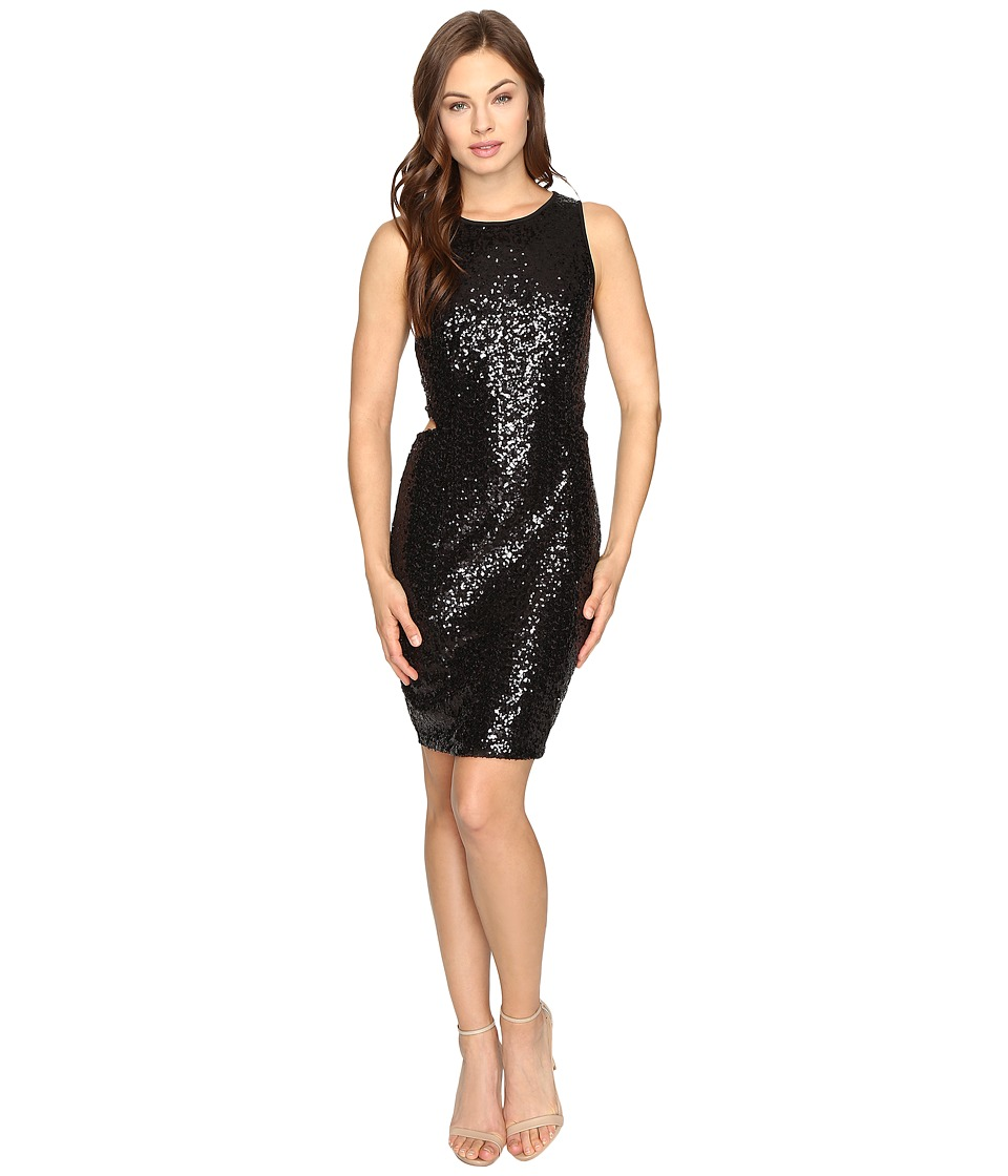 kensie - Dense Sequin Jersey Dress KSDK7424 (Black) Women's Dress