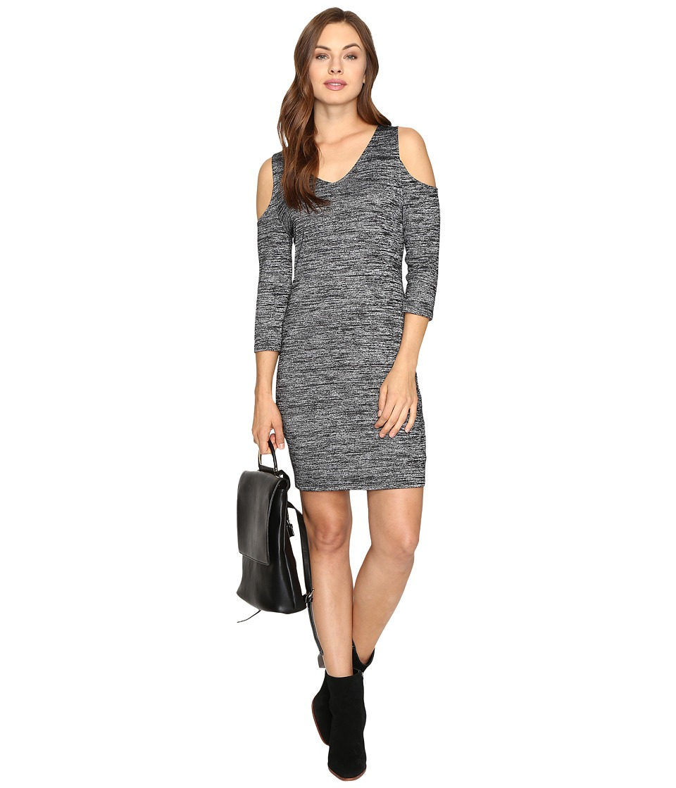 kensie Space Dye Jersey Dress KSDK7418 (Black Combo) Women