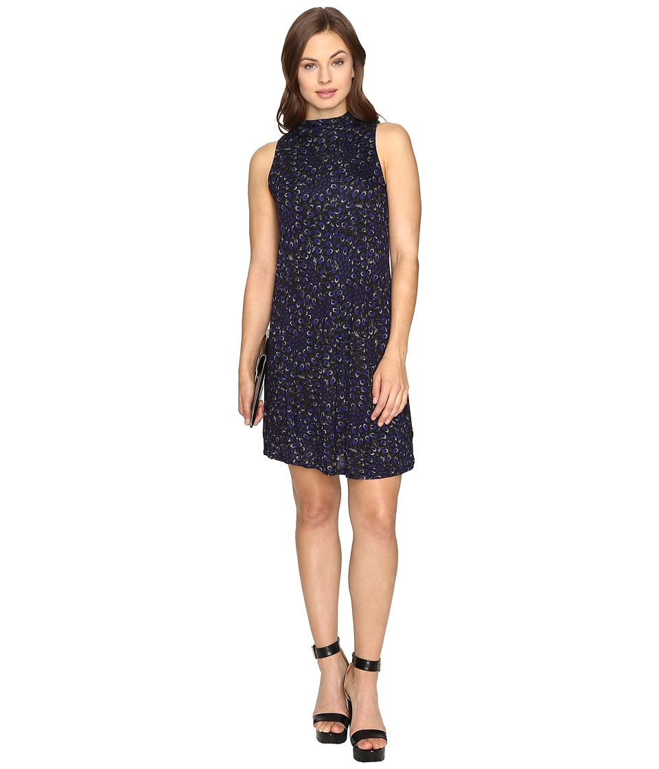 kensie Eye of the Storm Dress KSDK7423 (Electric Purple Combo) Women