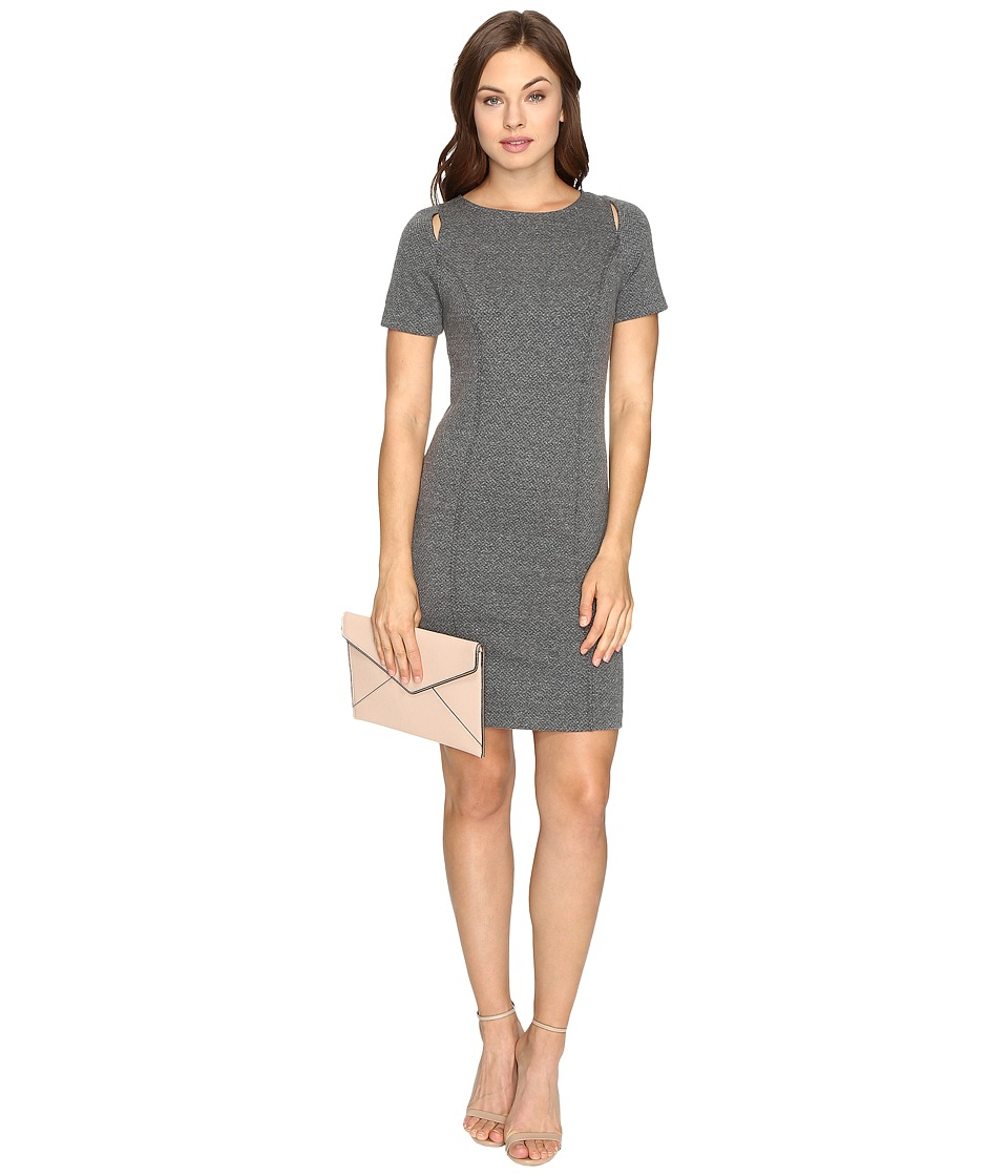 kensie - Basket Weave Knit Dress KSDK7485 (Heather Ash) Women's Dress