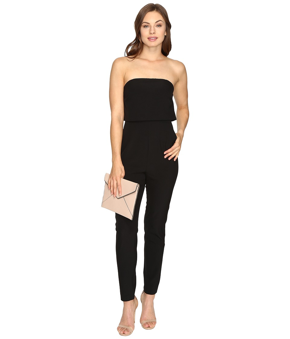 kensie - Drapey Soft Crepe Jumper KSDU7536 (Black) Women's Jumpsuit & Rompers One Piece
