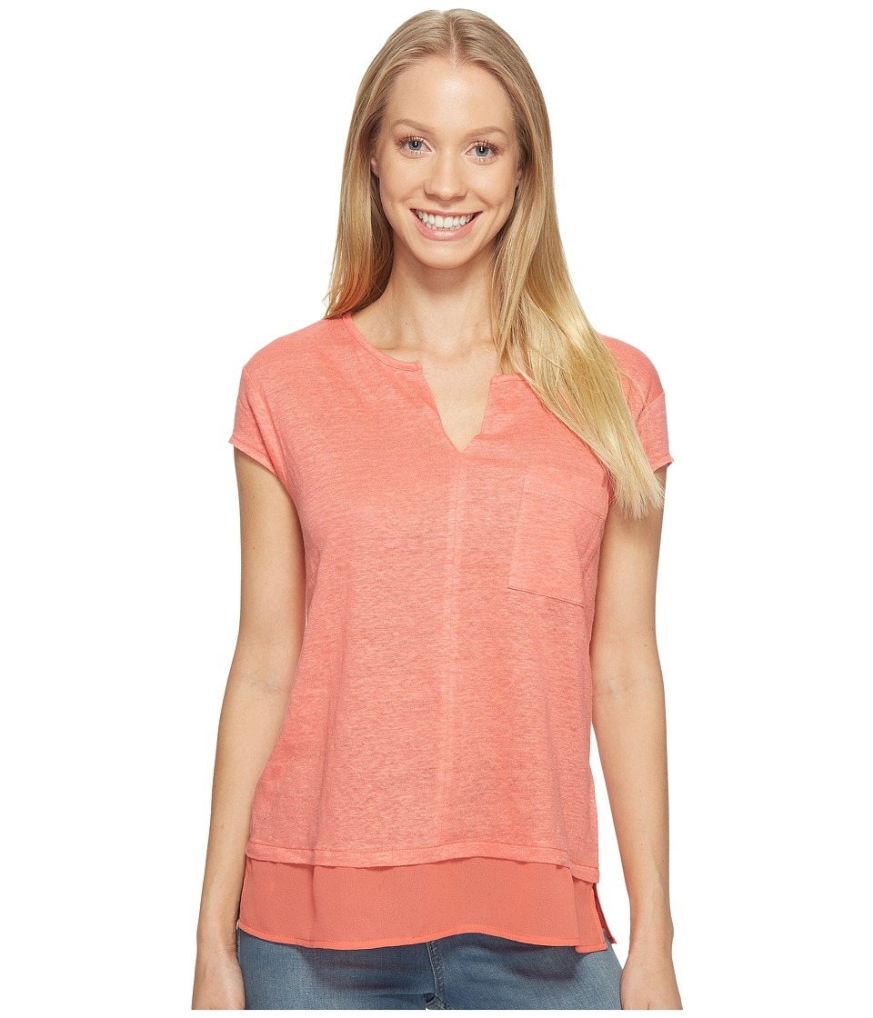 Sanctuary - City Mix Tee (Gloss) Women's Short Sleeve Pullover