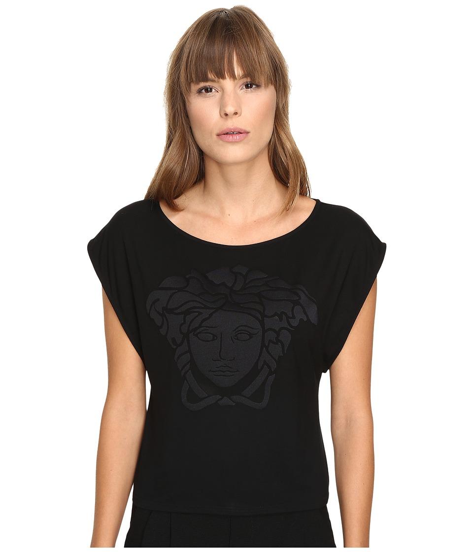 Versace - Oversize Logo T-Shirt (Nero) Women's Swimwear