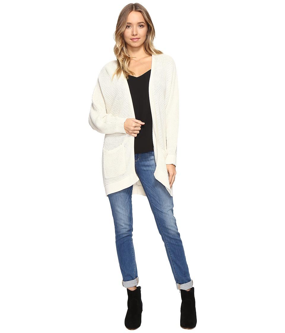 kensie - Cotton Blend Cardigan KS1K5545 (Bone) Women's Sweater