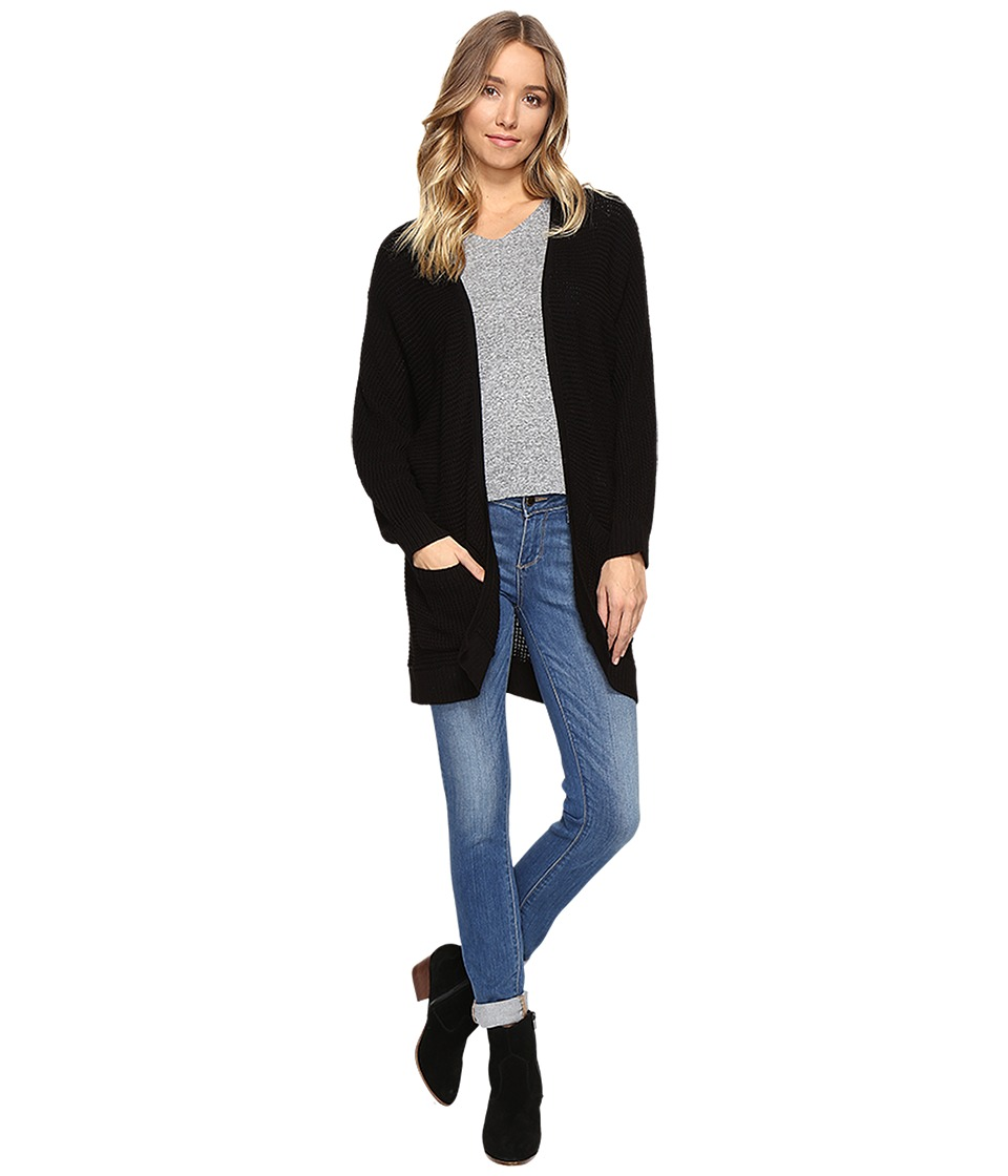 kensie - Cotton Blend Cardigan KS1K5545 (Black) Women's Sweater