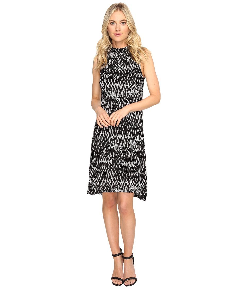 kensie - Painted Zigzag Dress KS1K7927 (Heather Grey Combo) Women's Dress
