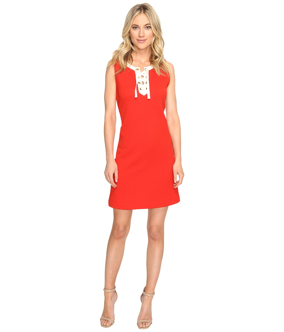 kensie - Mini Quilted Jersey Dress KS1K7911 (Fire Combo) Women's Coat
