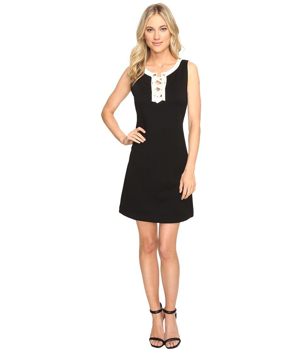 kensie - Mini Quilted Jersey Dress KS1K7911 (Black Combo) Women's Coat