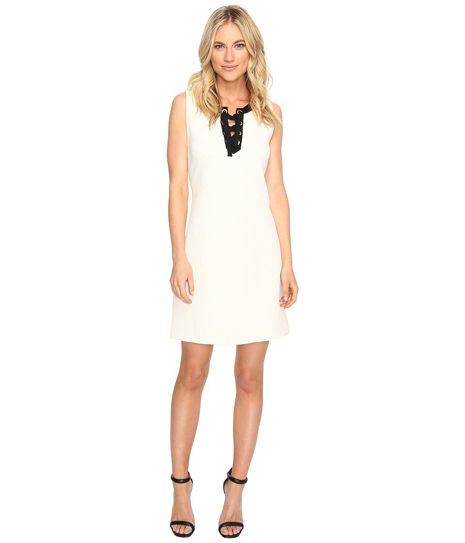 kensie - Mini Quilted Jersey Dress KS1K7911 (Bone Combo) Women's Coat