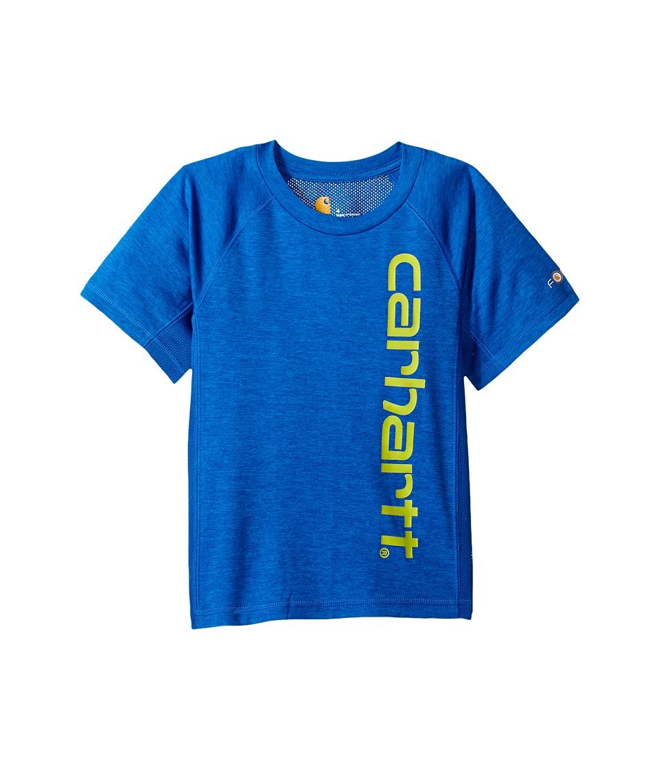 Carhartt Kids - Force Pieced Raglan Tee (Big Kids) (Victoria Blue Heather) Boy's T Shirt