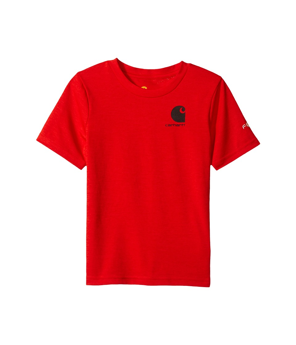 Carhartt Kids - Live to Hunt Force Tee (Big Kids) (Fiery Red Heather) Boy's T Shirt