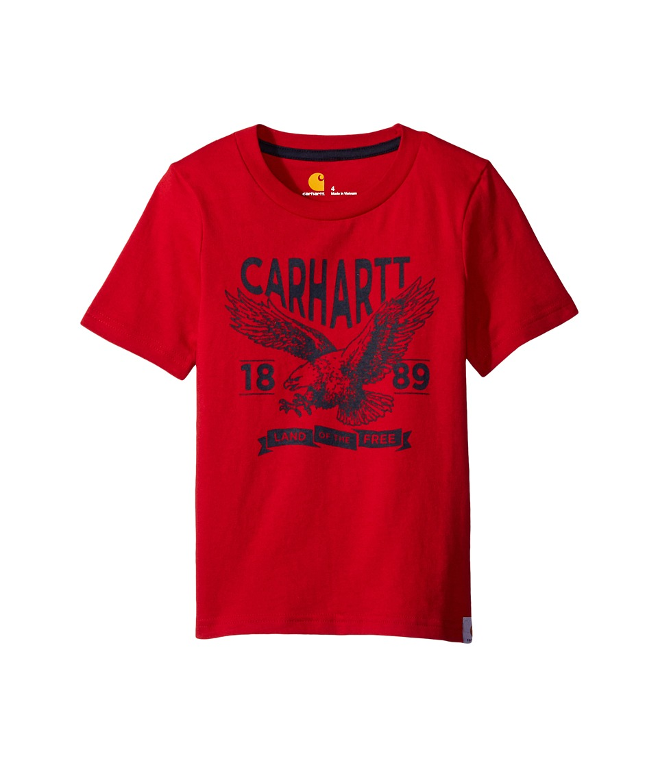 Carhartt Kids - Land of the Free Tee (Big Kids) (Tango Red) Boy's T Shirt