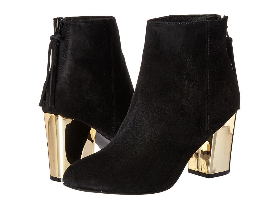 Steve Madden - Cynthiam (Black Suede) Women's Zip Boots