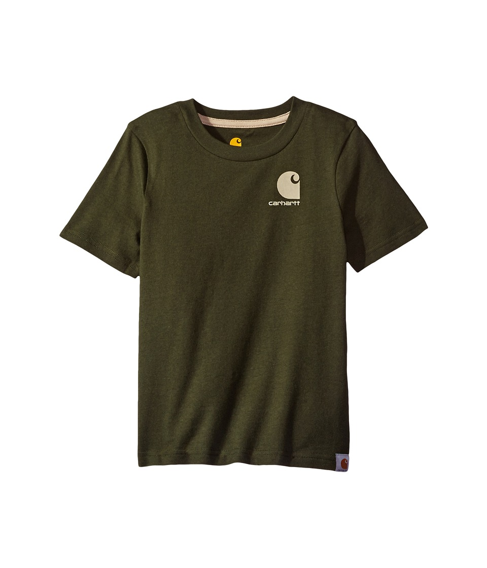Carhartt Kids - Made for the Outdoors Tee (Big Kids) (Olive) Boy's T Shirt