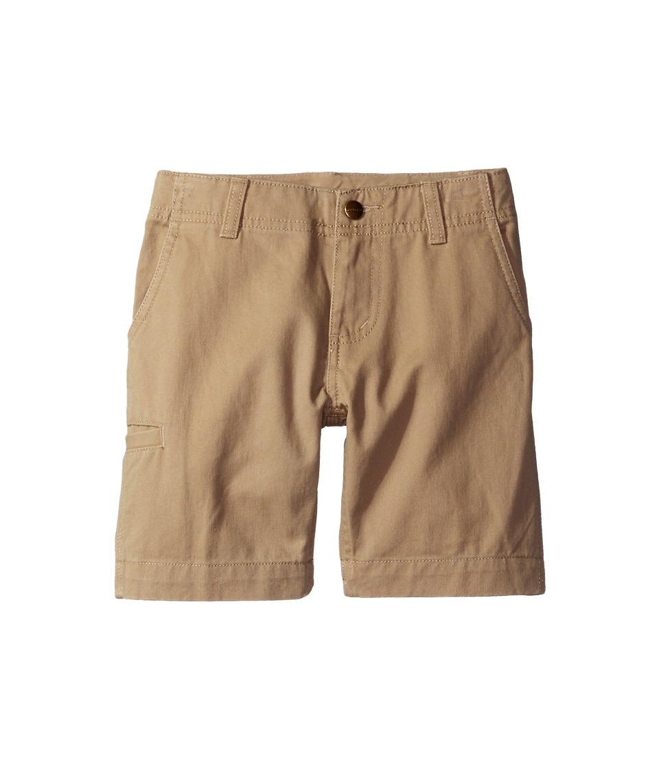 Carhartt Kids - Twill Work Shorts (Little Kids) (Dark Tan) Boy's Shorts