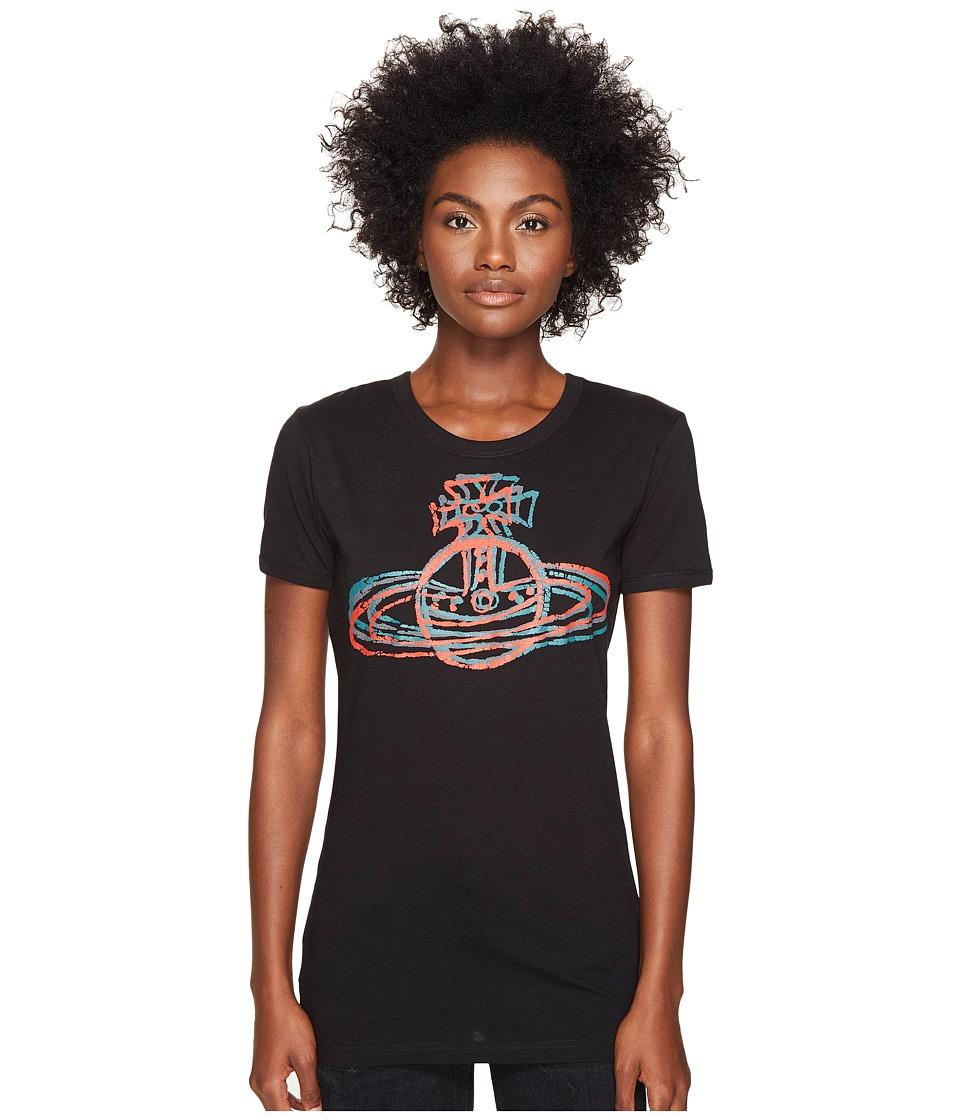 Vivienne Westwood - Cracked Orb T-Shirt (Black) Women's T Shirt