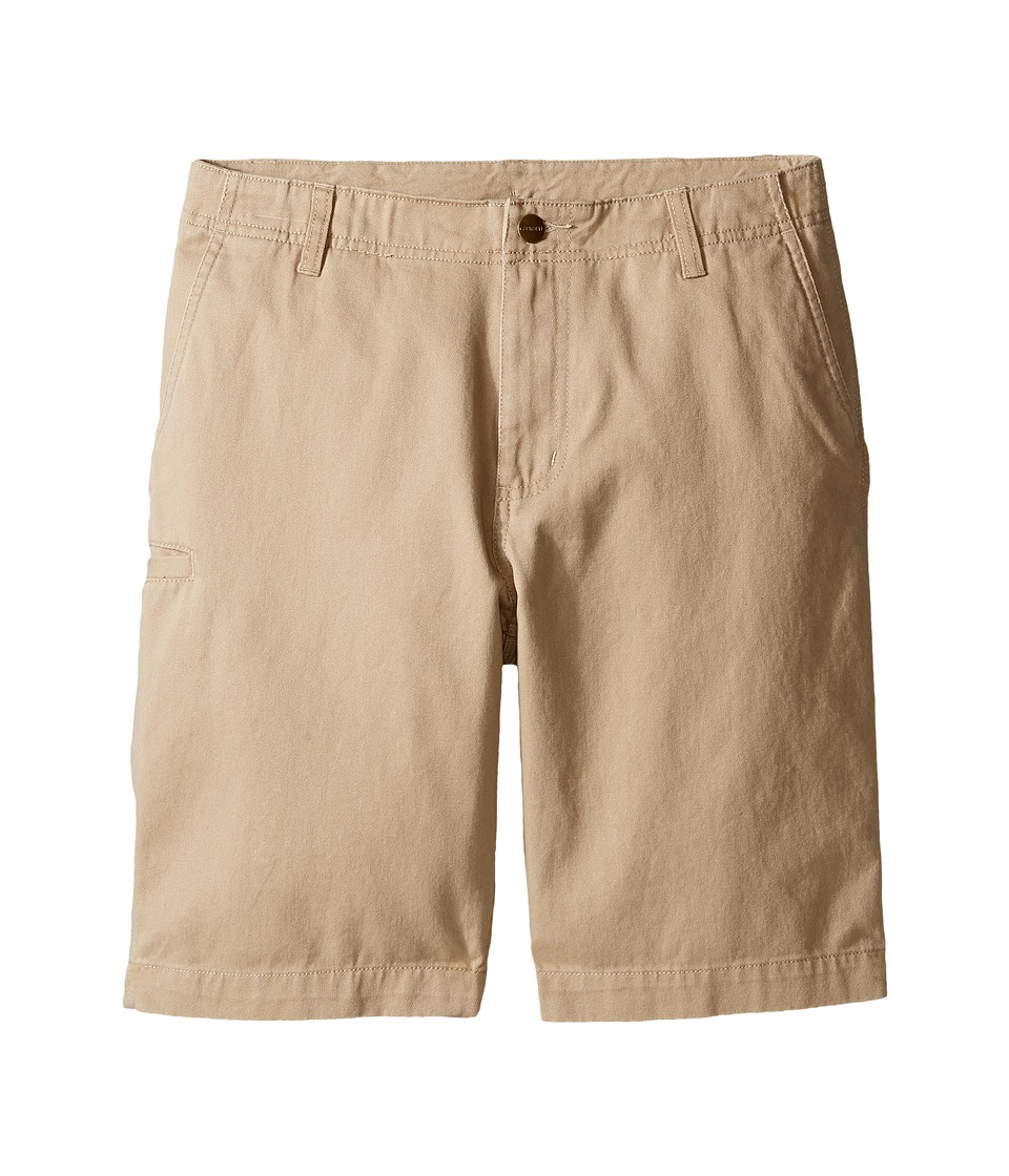 Carhartt Kids - Twill Work Shorts (Big Kids) (Dark Tan) Boy's Shorts