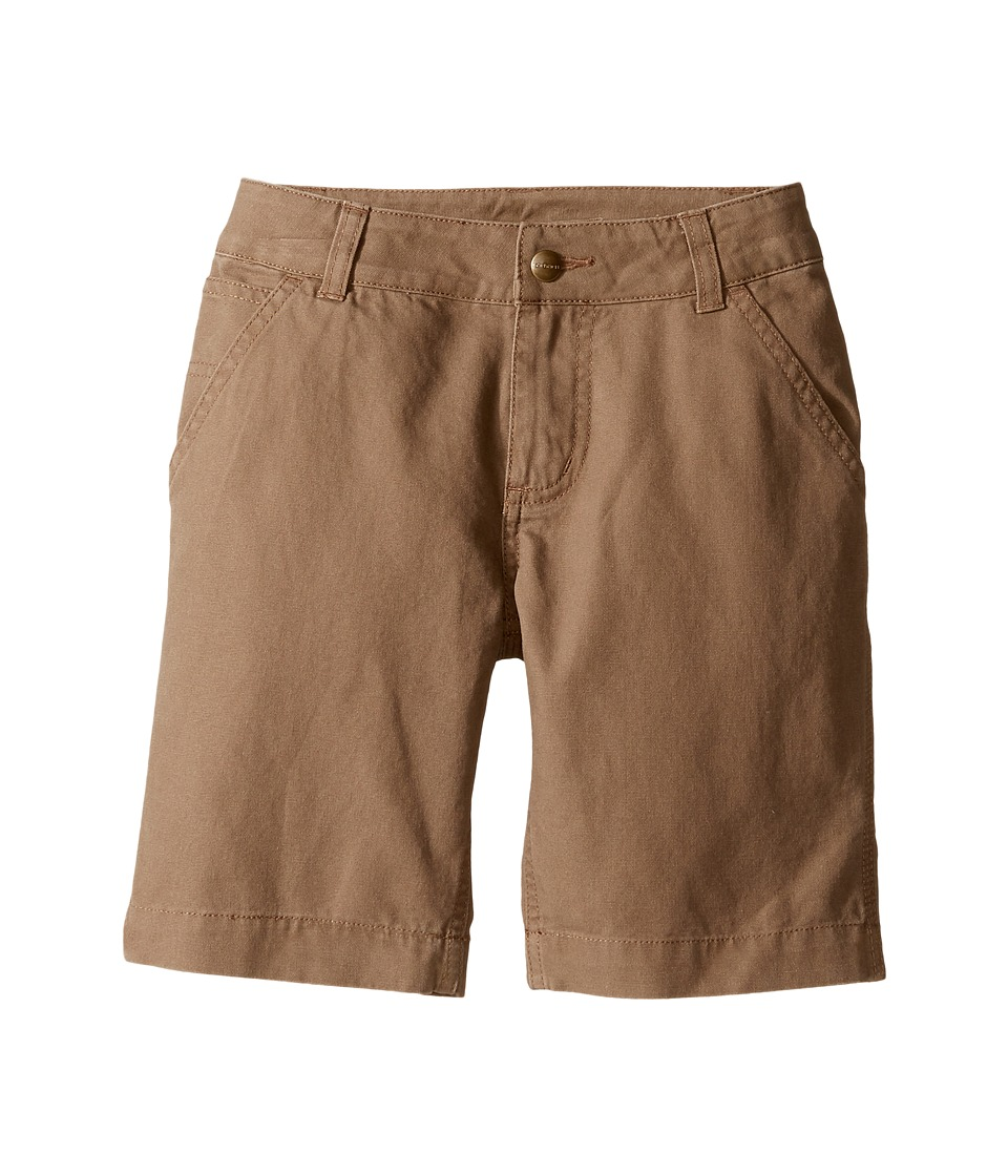 Carhartt Kids - Dungaree Shorts (Little Kids) (Canyon Brown) Boy's Shorts